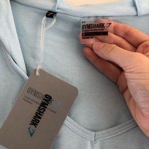 Blue GYMSHARK cropped hoodie! Soft, Medium